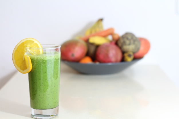 Spinat-Cocos Smoothie, green Smoothie