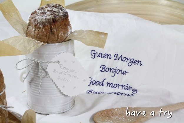 Roggen-Buchweizen-Brötli (vegan)